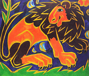 N.S. GONCHAROVA   'LION' - parts of polyptych 'VINTAGE'