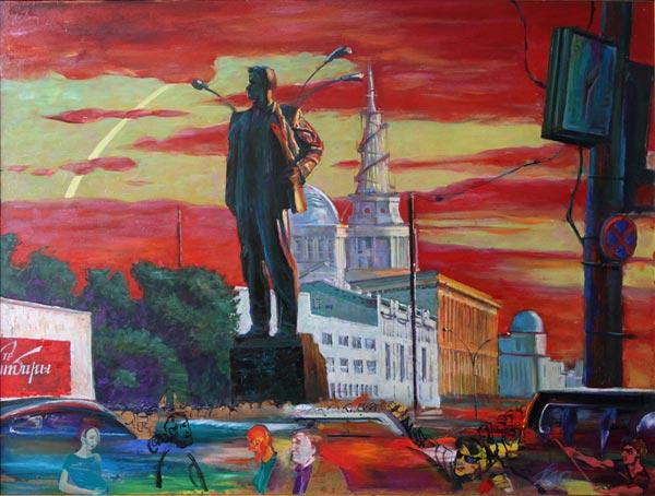 Г.В. Животов. Маяковский и площадь, 2012 год