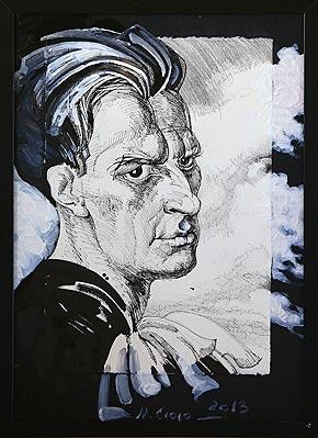 М.Ю. Сюрина. Из серии Мысли-облака, В.В. Маяковский, 2013 год