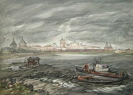 Валерий Рябовол «Причал в Соловках»