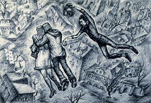 Yury Zemlyanukhin. Illustration to L. Engibarov's short story «Thief»