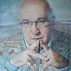 Raisa Arefyeva. Portrait of Vladimir Velmozhin, editor of weekly publication «Indeed»