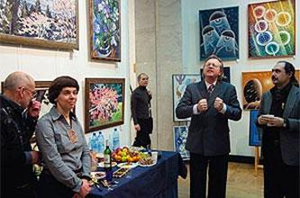 Exhibition of ECHOSPHERAS Creative Integration at Art Fair in the Central House of Artists-2010