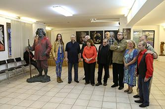 """Exhibition project """"THE PORTRAIT OF RUSSIAN FINE WORD"""", Second Season; opening of the second exhibition in the 'KOLORIT' Hall; video coverage"""