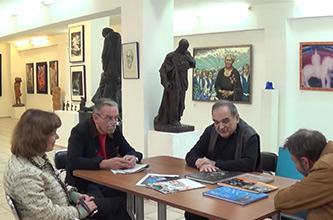 """Exhibition """"WAR AND PEACE"""". A round table discussion 'PORTRAIT… PORTRAIT? PORTRAIT!' Artist Leonid Kozlov"""