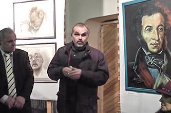 October 16, 2015: art project «THE PORTRAIT OF RUSSIAN FINE WORD» in the RYABICHEVS' CREATIVE ATELIER